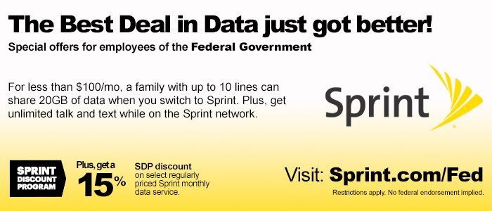 Sprint Federal Employee Discount