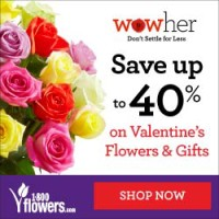 Save up to 40% and WOW her this Valentine's Day with Flowers and Gifts from 1800flowers.com! (Offer Ends 02/14/2015)